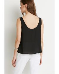 Forever 21 - Black Classic Chiffon Top - Lyst