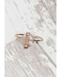 Forever 21 | Pink Shashi Tracy North South Ring | Lyst