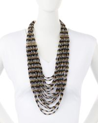 Nakamol - Multicolor Multi-strand Metallic Crystal Necklace - Lyst