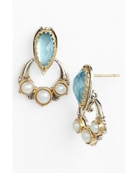 Konstantino | Blue 'amphitrite' Pearl & Semiprecious Stone Drop Earrings | Lyst