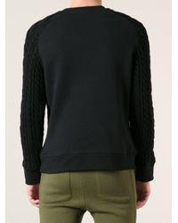 Balmain Black Cable Knit Jumper for men