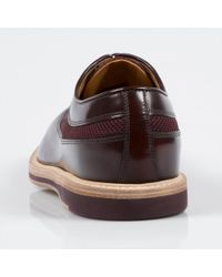 Paul Smith - Purple Oxblood Leather 'Maddison' Shoes With Mesh Panels for Men - Lyst