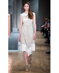 Tibi - Natural Siku Applique Draped Dress - Lyst