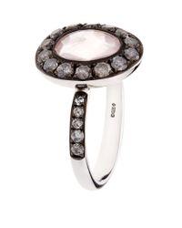 Annoushka - Black Dusty Diamonds Rose Quartz Ring - Lyst