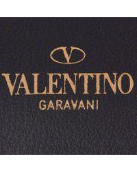 Valentino   Black 'rockstud' Clutch   Lyst