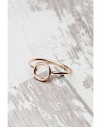 Forever 21 Pink Shashi Open Circle Ring