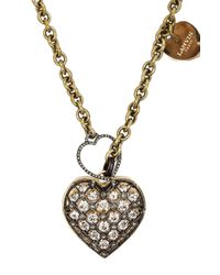 Lanvin | Metallic Mira Heart Necklace | Lyst
