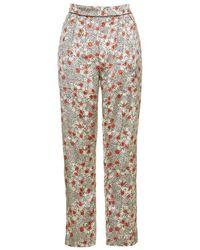 TOPSHOP Multicolor Poppy Print Pyjama Trousers