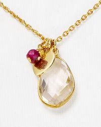 "Argento Vivo - Metallic Heart Charm Necklace, 16"" - Lyst"