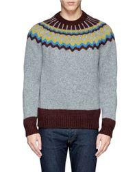 Valentino - Multicolor Chevron Stripe Virgin Wool Sweater for Men - Lyst