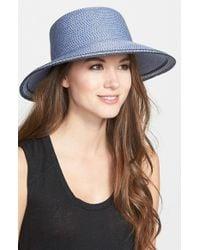 Eric Javits | Blue 'squishee Iv' Wide Brim Hat | Lyst