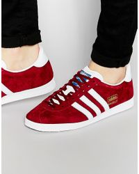 adidas Originals Suede Gazelle Og Trainers Aq3193 in Red for Men ...