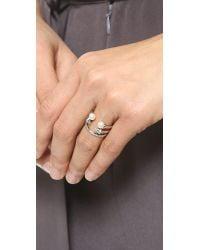 Vita Fede | Metallic Ultra Mini Freshwater Cultured Pearl Titan Ring | Lyst