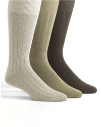 Tommy Bahama | Natural Three-pack Cayman Casual Crew Socks for Men | Lyst