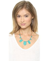 House of Harlow 1960 - Blue Five Station Necklace Nude - Lyst