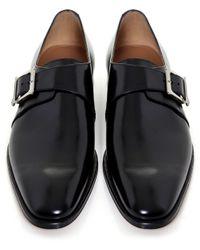 Stemar - Black Lucca Monk Strap Shoes for Men - Lyst