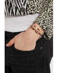 Monica Vinader - Pink Fiji Rose Goldplated Bracelet - Lyst