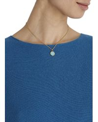 Marc By Marc Jacobs | Green Turquoise Enamel Logo Disc Necklace | Lyst