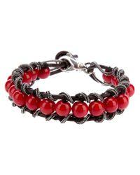 Emanuele Bicocchi - Red Beaded Bracelet - Lyst
