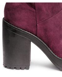 H&M Purple Knee-high Platform Boots