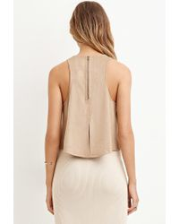 Forever 21 | Natural Vented-back Faux Suede Tank | Lyst