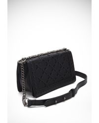 Forever 21 Black Stitched Faux Leather Crossbody