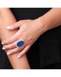 Bounkit | Blue Lapis Flower Ring | Lyst
