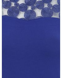 Jane Norman | Blue Lace Circle Top | Lyst