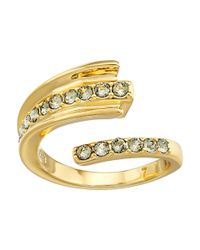 Giles & Brother - Metallic Ray Bypass Pave Ring - Lyst