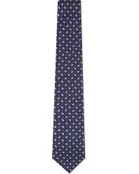 J.Lindeberg Blue Lalle Silk Tie for men