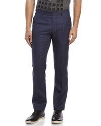 Moods Of Norway - Blue Rolf Flo Large Check Trousers for Men - Lyst