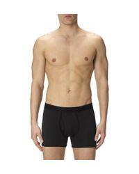 Sunspel Black Men's Superfine Cotton Low Waist Trunk for men