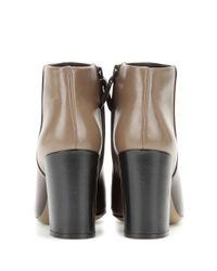 Tory Burch - Brown Bowie Leather Ankle Boots - Lyst