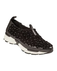 Jeffrey Campbell | Aleksa Slip-on Sneaker Black Leather | Lyst