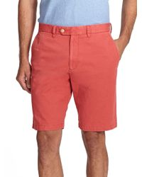Saks Fifth Avenue | Red Sulfur Dyed Pima Cotton Shorts for Men | Lyst