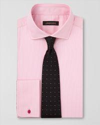 Jaeger Pink Easy Iron Fine Stripe Shirt for men