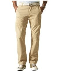 Dockers | Natural D1 Slim Tapered Fit Alpha Khaki Flat Front Pants for Men | Lyst