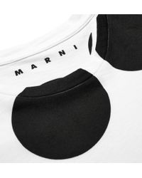 Marni - White Spot-Print Cotton-Jersey T-Shirt for Men - Lyst