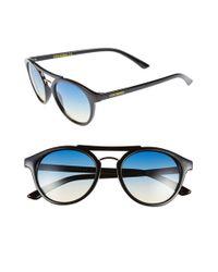 Steve Madden - Black 50mm Round Retro Sunglasses - Lyst