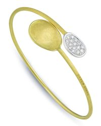 Marco Bicego | Metallic Lunaria 18k Engraved Diamond Bangle | Lyst