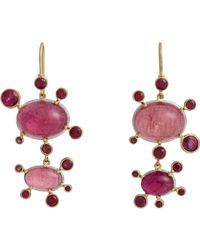 Judy Geib - Metallic Brazilian Pink Tourmaline & Ruby Playful Double - Lyst