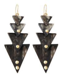 Ashley Pittman - Black Nyana Tiered Earrings - Lyst