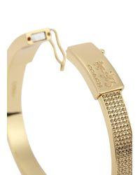 COACH | Metallic Gold Plated Crystal Embellished Bracelet | Lyst
