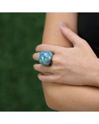 Arunashi | Blue Seamless Opal Dome Ring | Lyst
