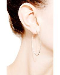 Dana Rebecca | Metallic Hoop Earrings in White Diamond | Lyst