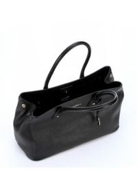 Furla - Black Onyx Leather 'Serena' Medium Tote Bag - Lyst