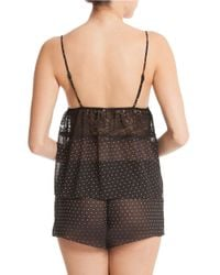 In Bloom Black Sheer Cami And Shorts Set