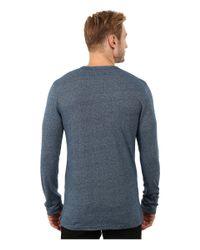 Alternative Apparel | Blue Eco Mock Twist Jersey Locomotive T-shirt for Men | Lyst