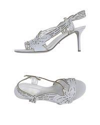 Sergio Rossi - White Sandals - Lyst
