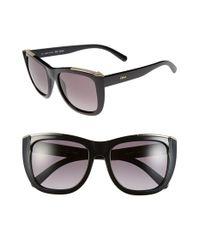 Chloé - Black 'dallia' 55mm Sunglasses - Lyst
